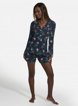 Pijama Elegante com Casaco