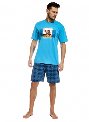 Men's Pajama set Men's Pajama Set — Experience the wide African savanna in this high quality cotton pajama set! Printed T. Shirt and plaid shorts. Adventure and comfort all rolled into one!