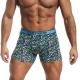 Boxers de homem - simplesmente perfeitos com estampado delabirinto geométrico índigo, turquesa, e verde.