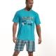 Pijama Homem Football Cup Pijama para Pai e filho, 100% algodão