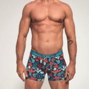 Boxers de homem - simplesmente perfeitos com estampado de múltiplos cactos coloridos